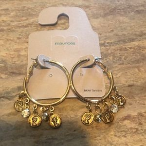 NEW Gold Hoops with Coins